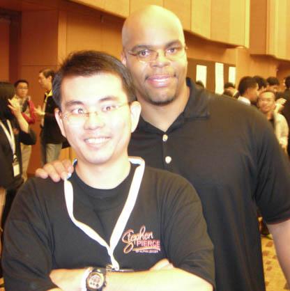 Raymond Chua with Stephen Pierce
